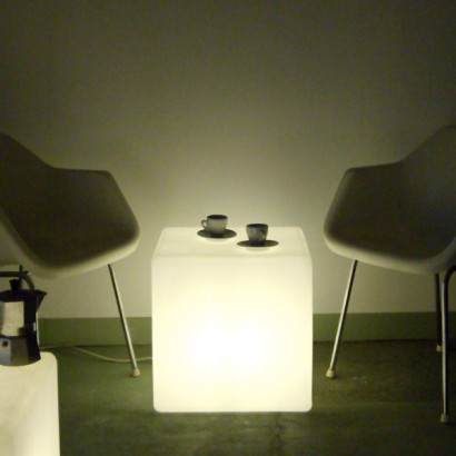 Cube Lit Side Table